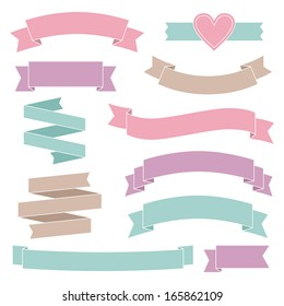 Vintage wedding ribbons collection