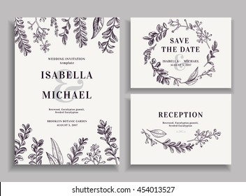Wedding Reception Invitation Images Stock Photos Vectors
