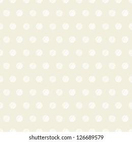 Vintage white polka dots pattern background