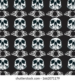 vintage white skull vector. Can be used for background.