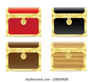 Vintage wooden chest