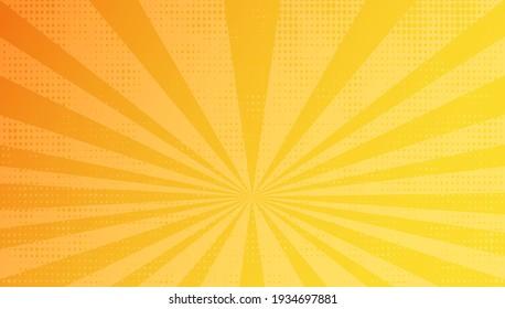 Vintage yellow sunburst background design.