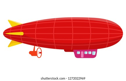 Vintage zeppelin isolated on white background