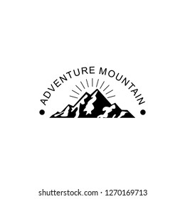 VINTAGE,EMBLEM,BADEGE MOUNTAIN ADVENTURE LOGO