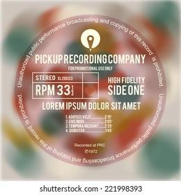 Vinyl cover or label design layout