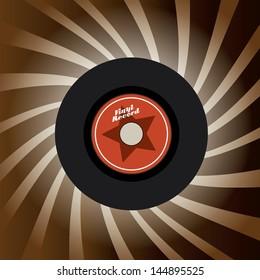 vinyl design over grunge background vector illustration