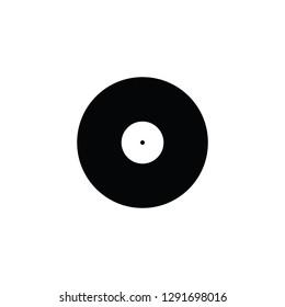 Vinyl disc flat vector pictogram.