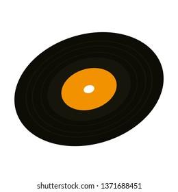 vinyl disc isolated icon