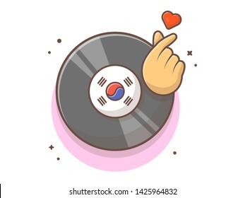 vinyl disk music finger heart 260nw 1425964832