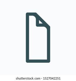 Vinyl floor isolated icon, vinyl flooring linear vector icon