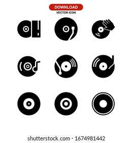 vinyl icon or logo isolated sign symbol vector illustration - Collection of high quality black style vector icons
