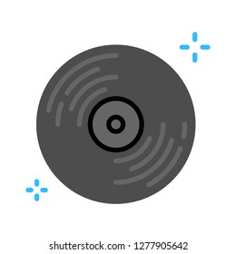vinyl icon - vinyl music isolated, music disc illustration - Vector disc