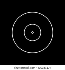 Vinyl Icon On Black Background