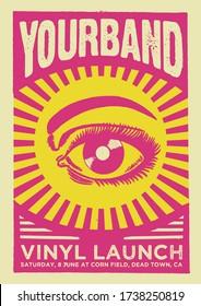 Vinyl Launch Gig Poster Flyer Template