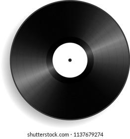Vinyl, phonograph retro record. Vector Illustration
