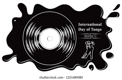 Vinyl record banner - International Day of Tango