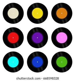 Vinyl Record Blank Colors