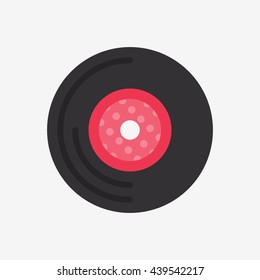 Vinyl Record Icon, Music Vector