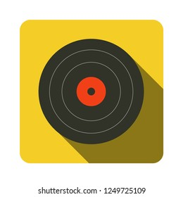 vinyl record icon. music, vintage symbol.