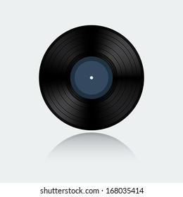 Vinyl record isolated on white background
