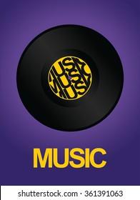 vinyl record music design