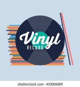 Vinyl record. vinyl records shop. Retro vinyl. Vinyl collection. Vinyl music