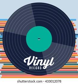 Vinyl record. record studio. Retro vinyl. Vinyl collection.