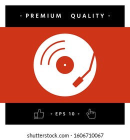 Vinyl record turntable icon. Graphic elements for your design