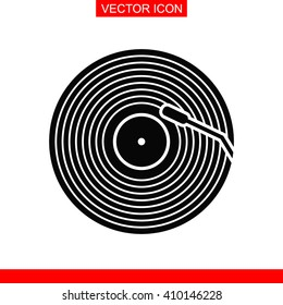 Vinyl record vector icon.
