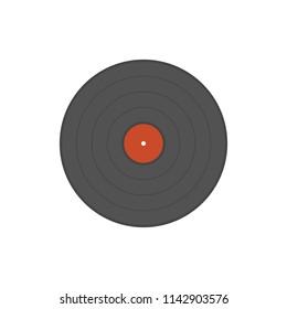 Vinyl record, vector illustration, flat, element, logo