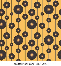Vinyl records. Seamless vector