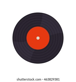 Vinyl technology retro vintage icon. Isolated and flat illustration. Vector graphic