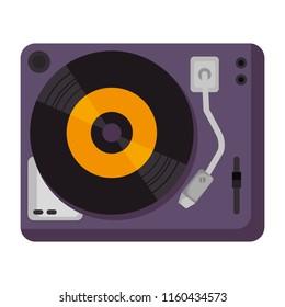 vinyl turntable device icon