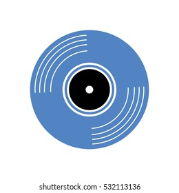 vinyl vintage record icon vector illustration graphic design