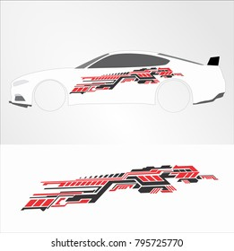 Vinyls & Decals for Car modif sticker, Motorcycle, Racing Vehicle Graphics in isolated vector design template