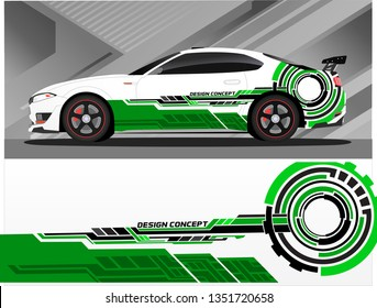 Vinyls sticker Decals for Car truck mini bus modify Motorcycle. Racing Vehicle Graphics kit isolated vector design race Elegant stripes modern color technology background for wrap