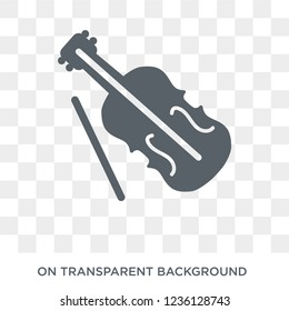 Viola icon. Viola design concept from Music collection. Simple element vector illustration on transparent background.