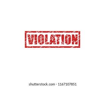 Violation red stamp