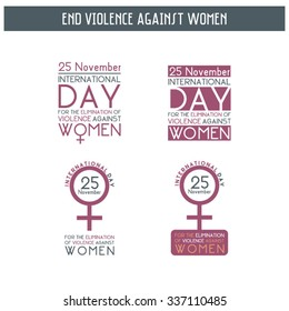 Violence Against Women, vector, editable, can be used as a sticker, label, banner