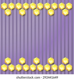 violet abstract geometric hexagons