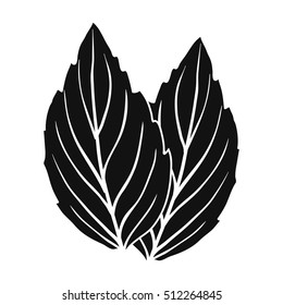 Violet basil icon in black style isolated on white background. Herb an spices symbol stock vector illustration.