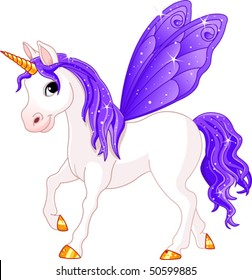 Violet Cute winged horse of Fairy Tail. (Rainbow colored horses series)