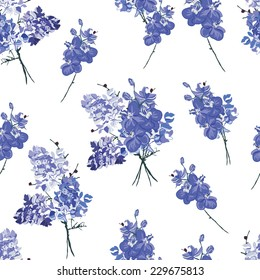 Violet french bouquet seamless vector pattern