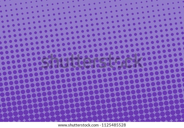 Violet halftone pattern. Digital gradient. Abstract futuristic panel for web sites, banner in pop-art style, comic book. Textured backdrop with dots, points, circles