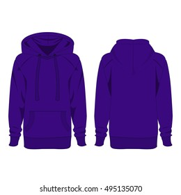 Violet hoodie isolated vector