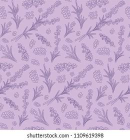 violet lavander pattern