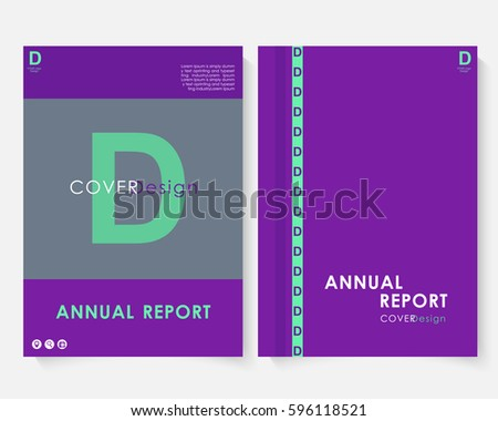 violet marketing cover design template annual stock vector royalty