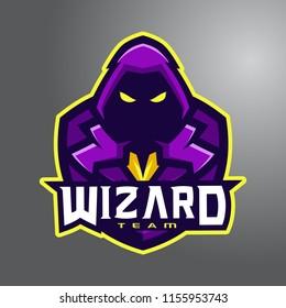 Violet Mystic Wizard Team e-Sport Logo