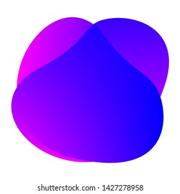violet purple blue colors shape free from, blob flat geometric simple, liquid stain brush flat blob for label ad copy space, fluid spot template for graphic, simple banner colored gradient wave blob