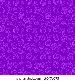 Violet seamless Easter background